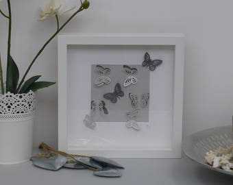 Small Handcrafted 3D Butterfly Framed Wall Art
