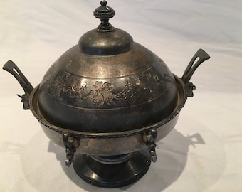 VIntage Silverplated Incense Burner or Decorative Bowl - FREE SHIPPING!!