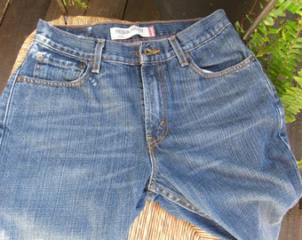 Levis 505 Womens White Jeans