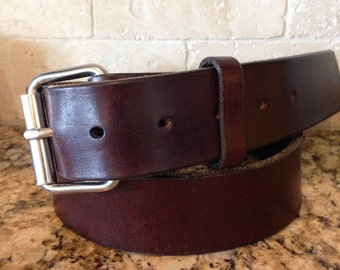 Men's Leather Belt , Heavy Duty Leather Belt , Full Grain Leather, Thick Leather Belt ,Wide Leather Belt