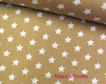 Fabric Star 1cm, beige cotton articles 7455