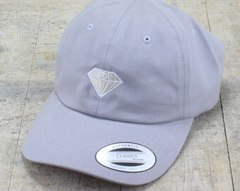 Diamond - choose your hat color dad hat with embroidery