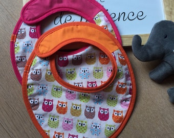 Set of 2 bibs CUSTOMISABLE to the choice
