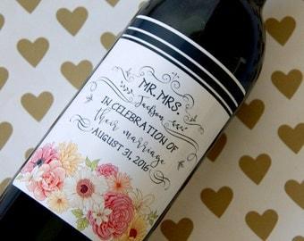 Personalized Wedding Label, Engagement Wine Label, Wedding Label, Wedding Wine Label, Engagement Gift, Custom Wine Label, Wedding Gift