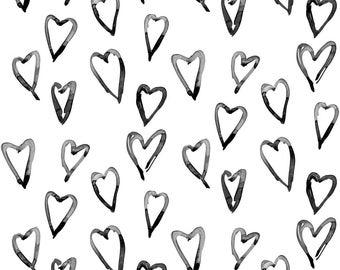 Watercolour heart leggings