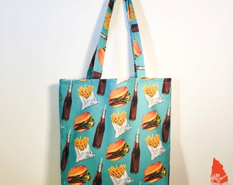 Combo Meal Pattern Tote Bag