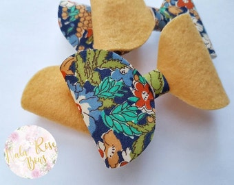 Spring Floral Large Bow