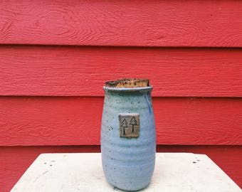 Lavender Corked Jar with Two Tree Stamp