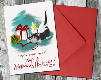 Nom-Nom-Nom Have a Delicious Holiday – Christmas Card