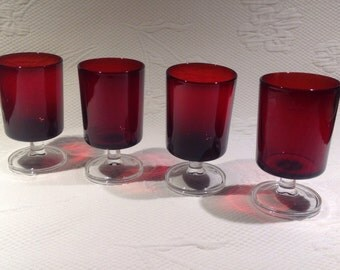 Luminarc wine glasses Red Knight / / made in France