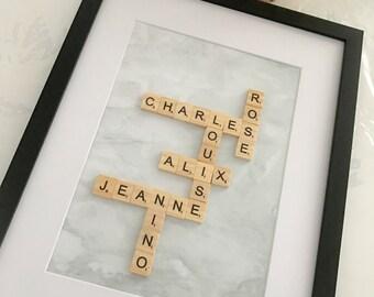 Frame Family Scrabble