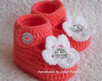 Baby shoes crochet, handmade baby girl shoes, baby booties crochet, baby shower gift, newborn girl shoes, crochet baby boots