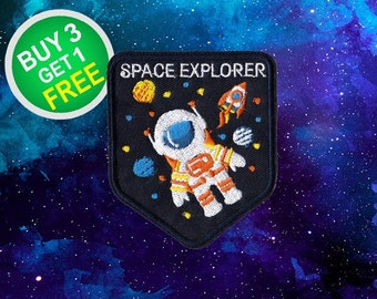 Space Explorer Patches Space Patches Iron On Patch Sew On Patch Patches For Jackets