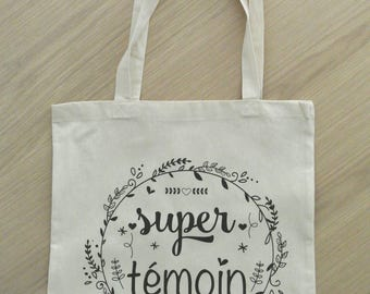 "Tote bag witness ""Super witness"""