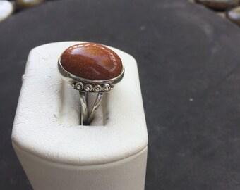 Silver sun sitara ring