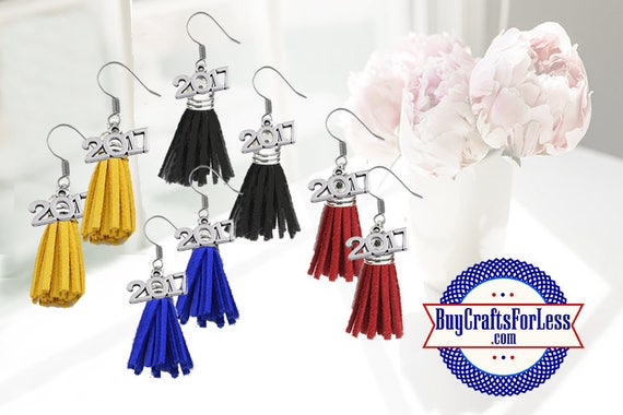 GRADUATION Tassel Earrings -8 Colors  **FREE Shipping with orders 10 dollars+ **