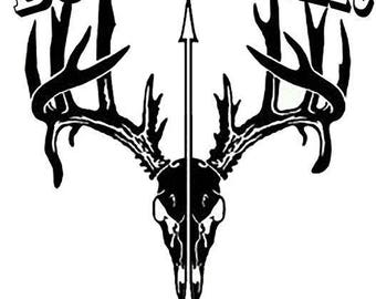 Bow Hunter Vehicle Window Decal w/ free shipping
