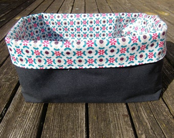basket - breadbasket - utensil holder - oilcloth - wax cloth