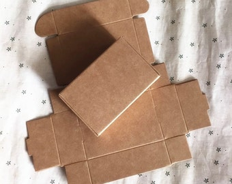 50pcs 9.4*6.2*3CM Handmade soap box Kraft paper boxes small boxes of jewelry box candy box