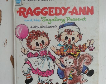 Raggedy Ann and the Tagalong Present vintage children's book bedtime story
