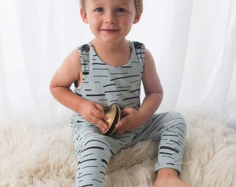 100% Organic Mint Stripe Harem Romper, Boy, Romper, Boy romper, Baby, Baby romper, Baby boy romper, Boy outfit, Baby boy outfit, Baby shower