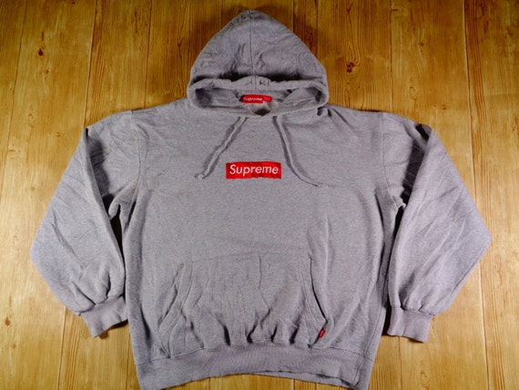 20 off vintage rare supreme box logo gray original hoodie. Black Bedroom Furniture Sets. Home Design Ideas