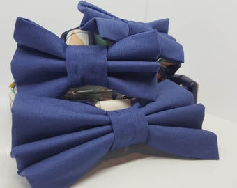 Pet Collars- Blue Geo