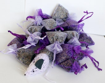 20 natural aromatic lavender flower bags, moth repellent + mouse