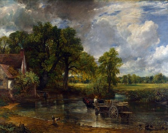 John Constable : The Hay Wain (1821) Canvas Gallery Wrapped Wall Art Print