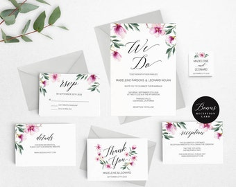 Rustic Wedding Invitation Template, We Do Wedding Invitation Printable, Vintage Invitation, Cheap Invitation,DIY PDF Instant Download #E024