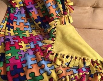 Autism Fleece Throw Blanket