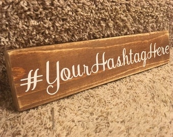 RUSTIC HASHTAG SIGN, rustic wedding decor, distressed wood sign, wedding hashtag sign, wall decor, wedding decoration