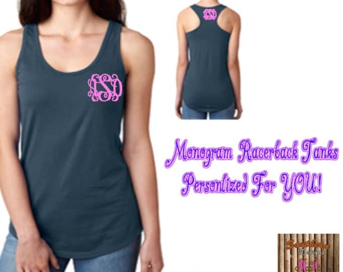 Personalized Tank, Monogram Tank, Bridesmaids Gifts, Custom Tank Top