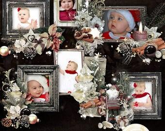 Digital Scrapbook Clusters, Christmas Clusters Frames, Digital Clusters, Christmas, Scrapbooking, Digital Scrapbook, Digital Photo Frame,