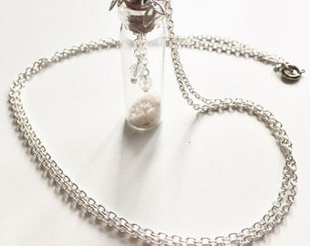 Wish. Glass bottle necklace
