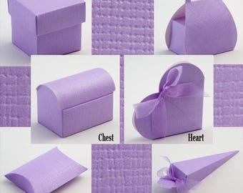 Lilac Wedding Favours, Silk Favor Box, Lilac Theme, Square Lilac Box, Favour Gift Box, Small Wedding Box, Lilac Candy Box, Lilac Table Decor