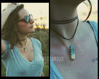 Adjustable choker/Natural stone necklace/Choker