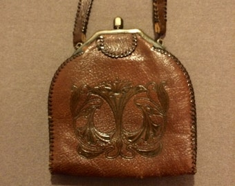 1910s Hand Tooled Handbag