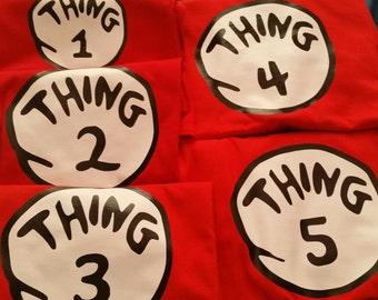 Thing 1 t shirt Dr. Seuss