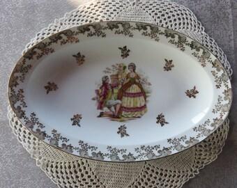 Old Dish - Authentic Porcelain - Fabrique J.R.S. Of Limoges-  Vintage