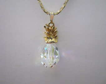 Crystal Pineapple Necklace- Friendship