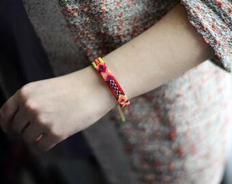 Mexican Friendship Bracelets Rainbow Woven Bracelets Gifts for Her Bohemian Jewelry Beach Jewelry Arm Party Hippie Bohemian Chic Boho
