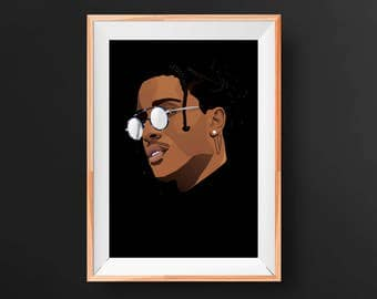 ASAP Rocky Polygon Art
