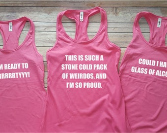 Bridesmaids Quotes Bachelorette Party Tank Tops