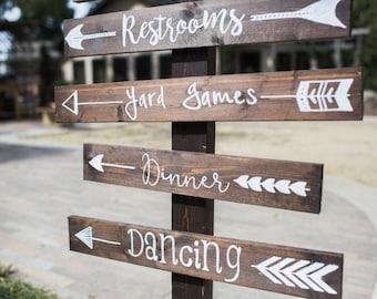Rustic Wedding Direction Arrow Sign