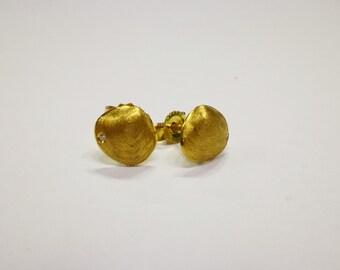 Sea Shell Studs, Shell Earrings, Beach studs, Mermaid earring, Mermaid studs, gift for her, sea shell earring,18K Yellow gold, Shell Stud