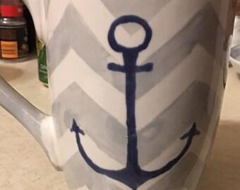 Anchor Chevron mug
