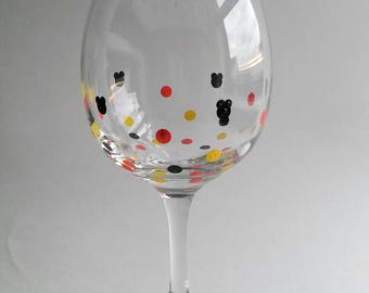 Mickey Silhouette Stem Wine Glass (Black, Red, White, Yellow)