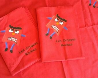 Pillowcase croques red rocks