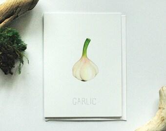 Garlic Greeting Card - Blank